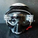 witte helm met bril 2